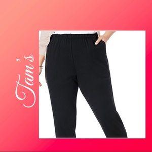 Stretch knit black pants